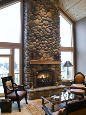 Stone Fireplace design Chantilly